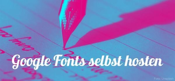 Google Fonts selbst hosten