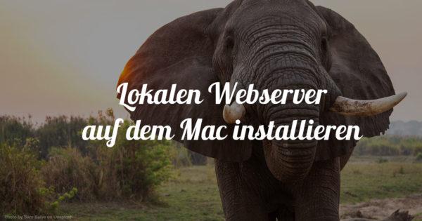 Lokalen Server auf dem Mac installieren