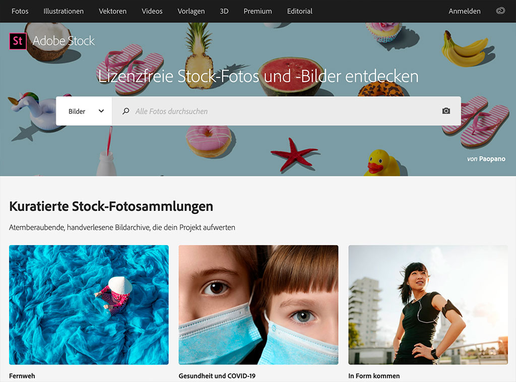 adobe stock website