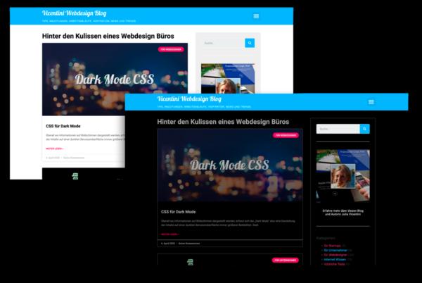 Website Unterschied Dark Mode CSS