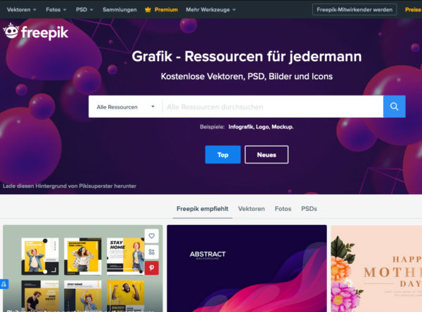 Freepik Grafik Resourcen