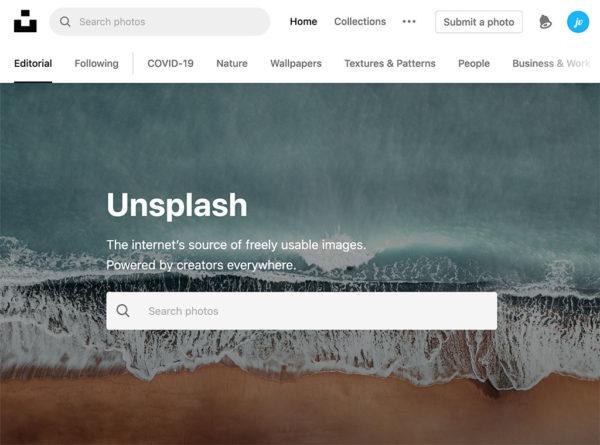 unsplash website