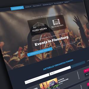 Webdesign Flensburg - Deutsches Haus und Flens-Arena