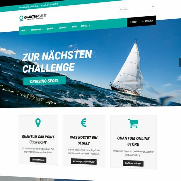 Homepage Design Segelmacher Flensburg