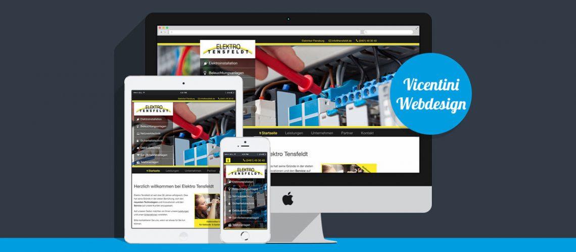 Webdesign Elektro Tensfeldt Flensburg
